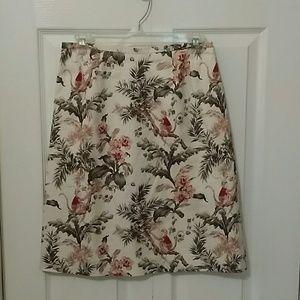 Talbots A Line Tropical Skirt